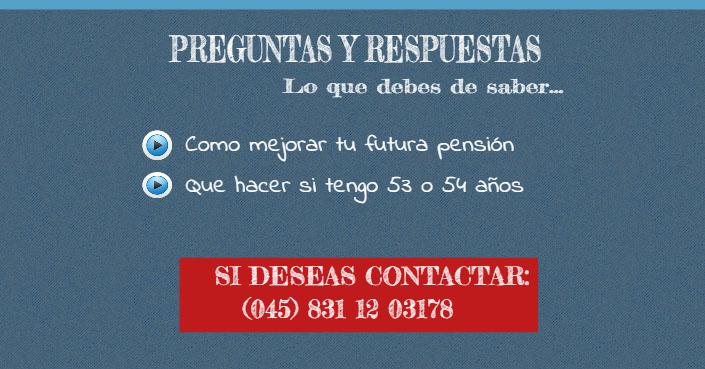 preguntas y respuestas pensiones imss